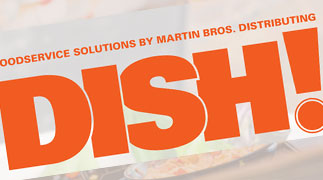 Dish! Food service solutions by Martin Bros. logo