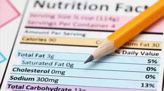 Food service nutrition label