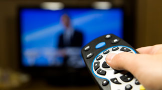 Remote control with television